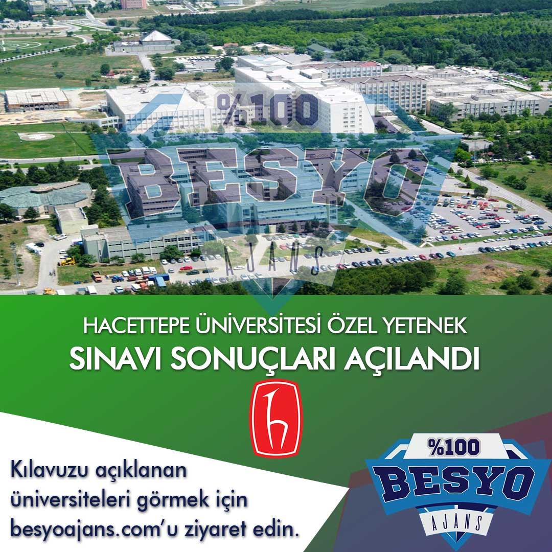 Hacettepe Üniversitesi BESYO Özel Yetenek Sınavı Sonuçları 2020