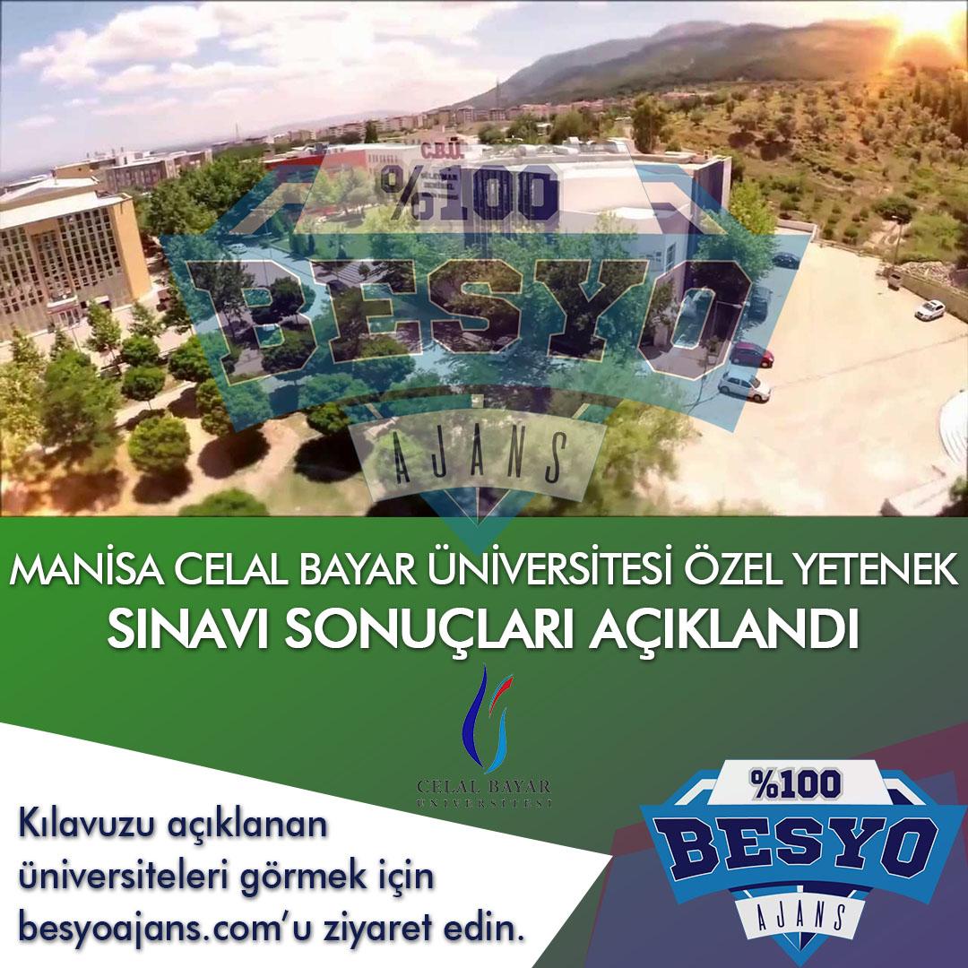 Manisa Celal Bayar Üniversitesi BESYO Özel Yetenek Sınavı Sonuçları Açıklandı 2021