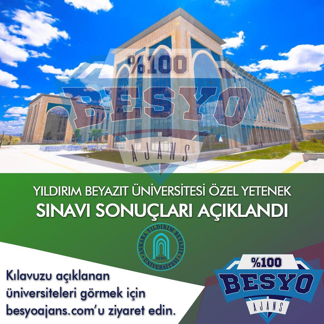 Ankara Yıldırım Beyazıt Üniversitesi Özel Yetenek Sınavı Sonuçları Açıklandı 2020