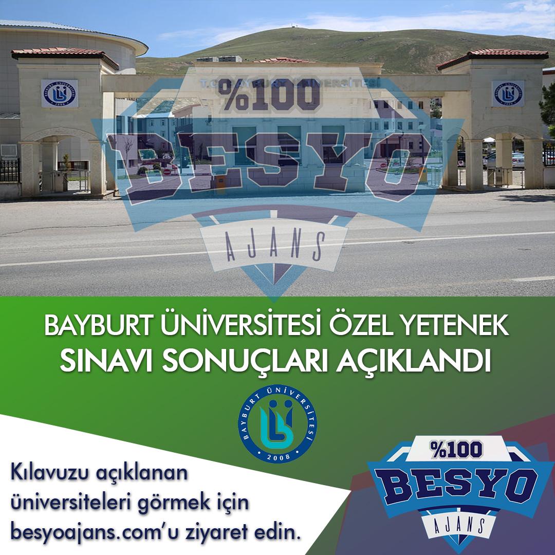 Bayburt Üniversitesi BESYO Özel Yetenek Sınavı Sonuçları 2020