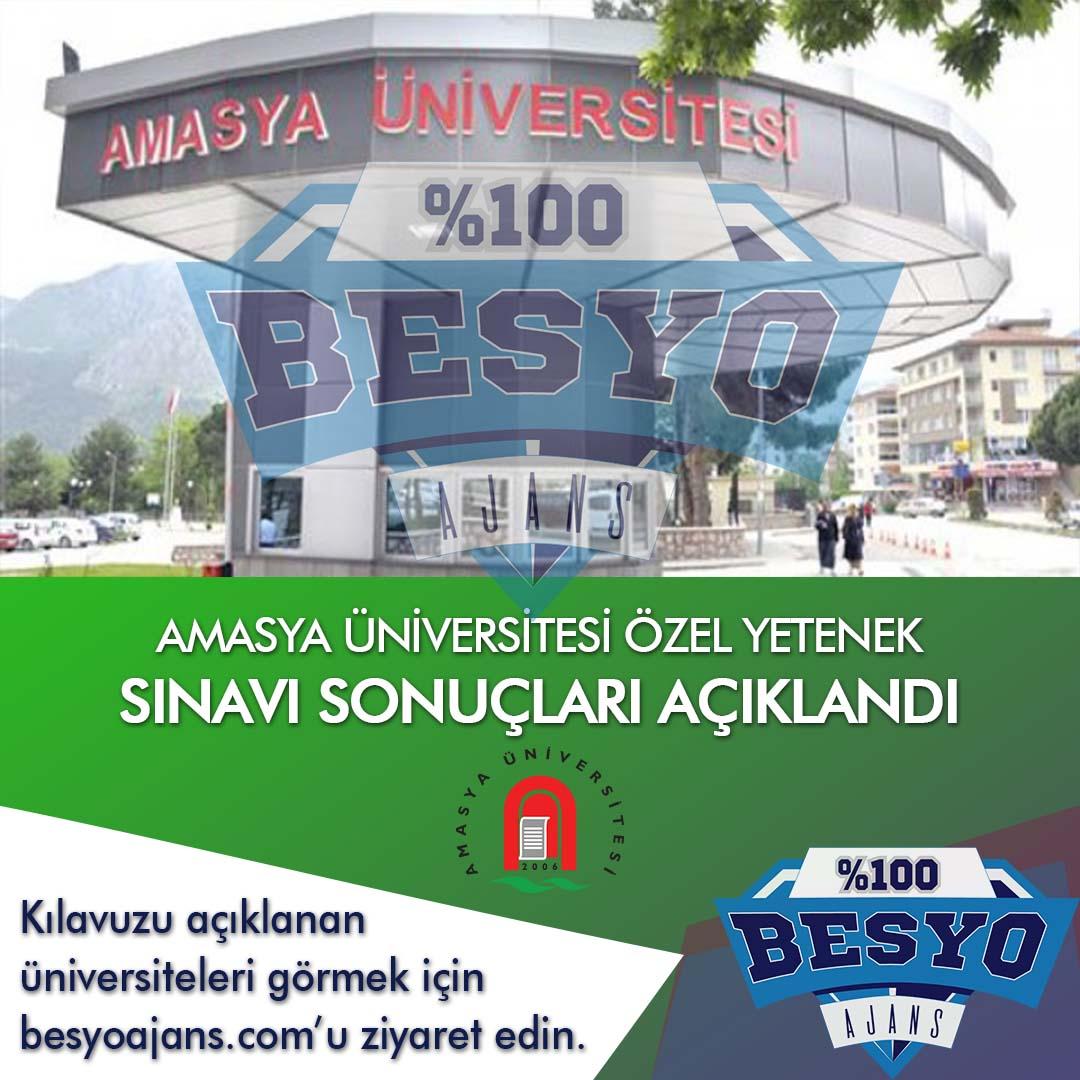 Amasya Üniversitesi Besyo Özel Yetenek Sınavı Sonuçları 2019