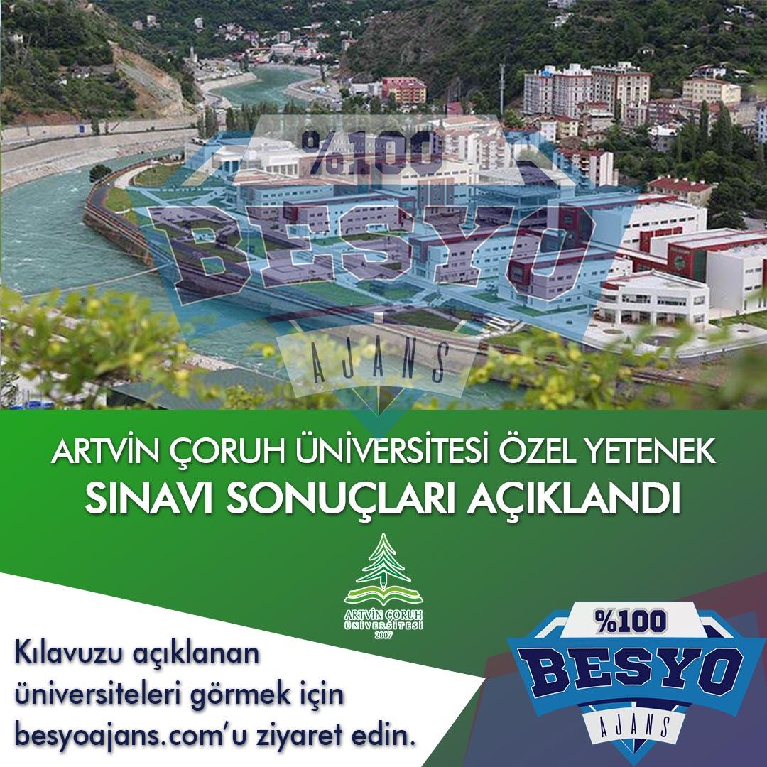 Artvin Çoruh Üniversitesi BESYO Özel Yetenek Sınavı Sonuçları 2019