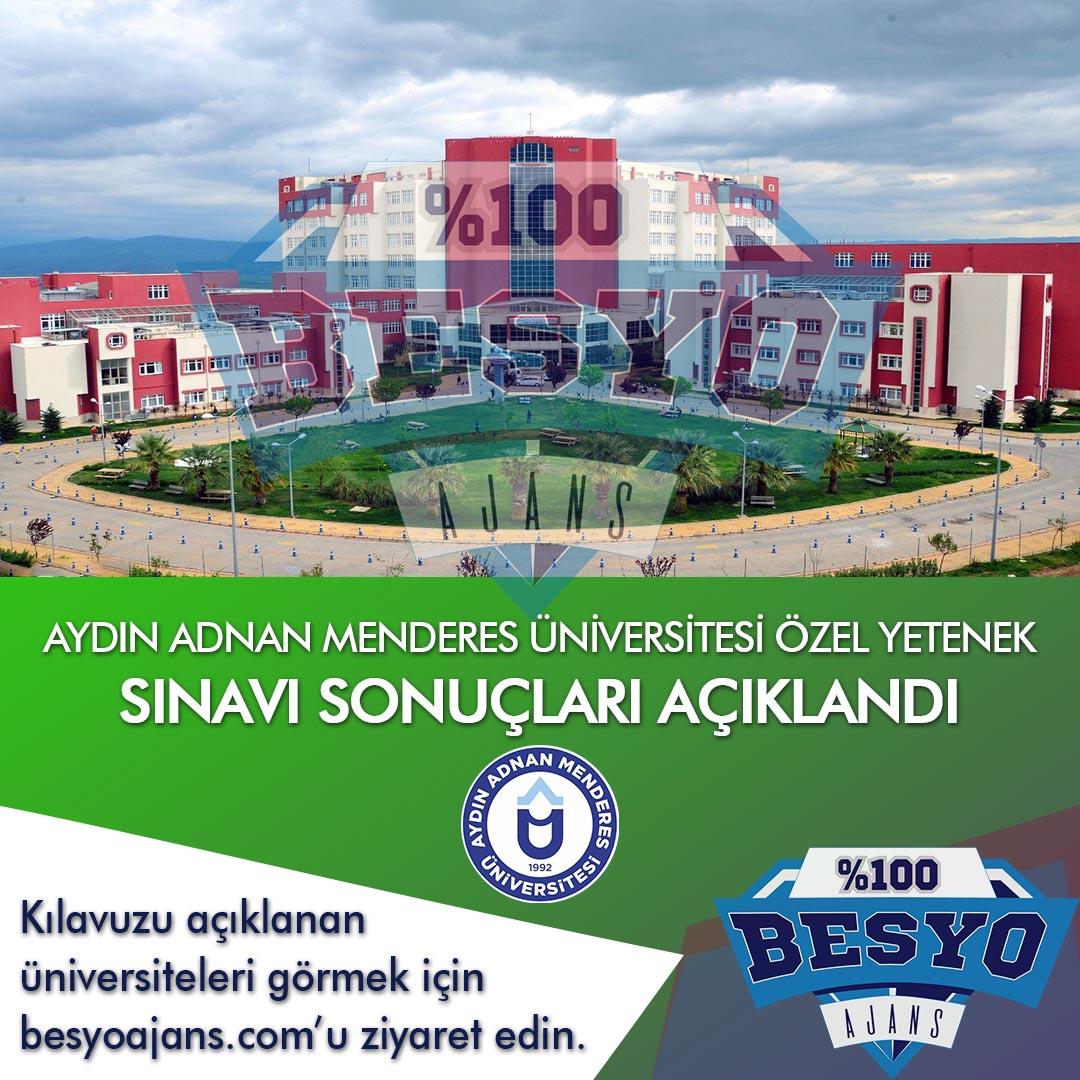 Aydın Adnan Menderes Üniversitesi BESYO Özel Yetenek Sınavı Sonuçları 2019