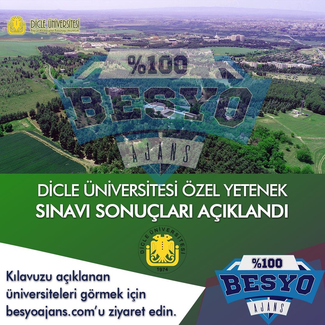 Diyarbakır Dicle Üniversitesi BESYO Özel Yetenek Sınavı Sonuçları 2019