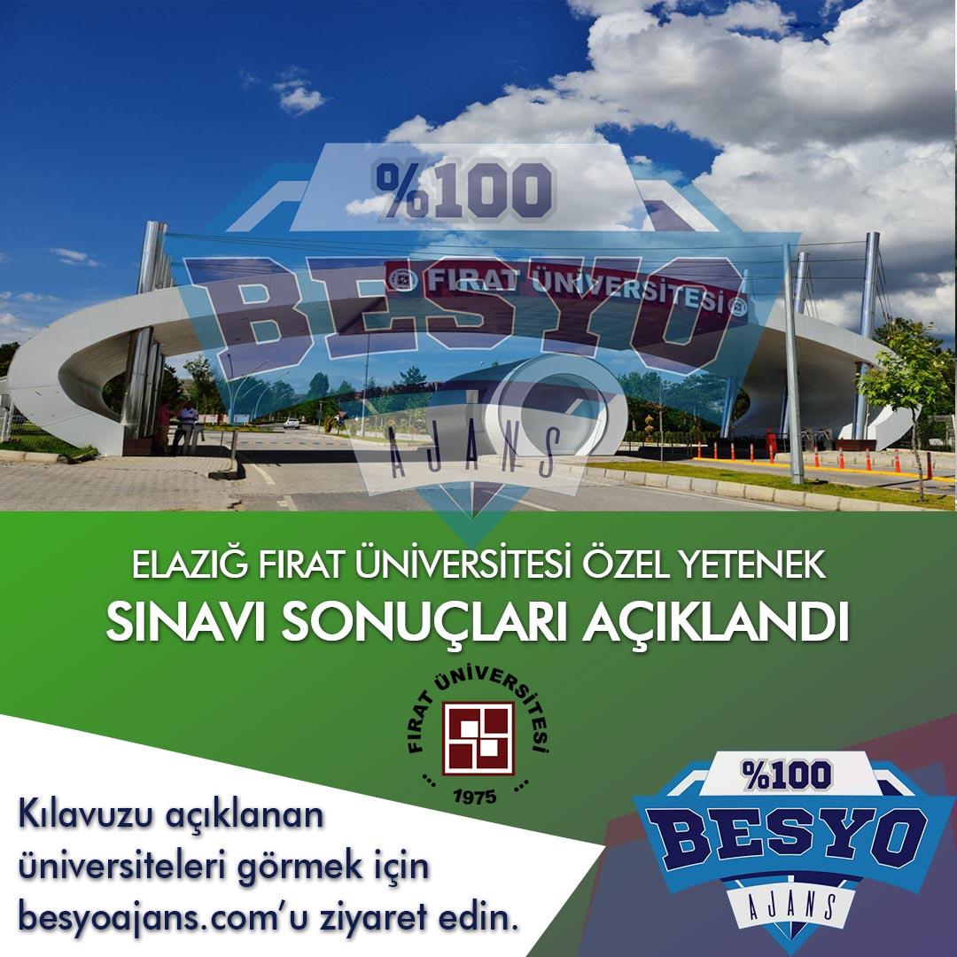 Elazığ Fırat Üniversitesi BESYO Özel Yetenek Sınavı Sonuçları 2019