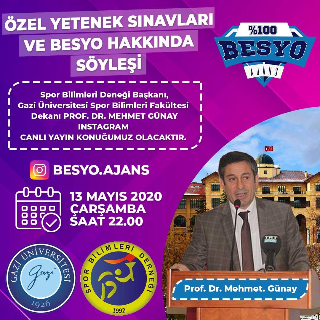 Özel Yetenek Sınavları ve Besyo Hakkında Söyleşi |Prof. Dr. Mehmet GÜNAY