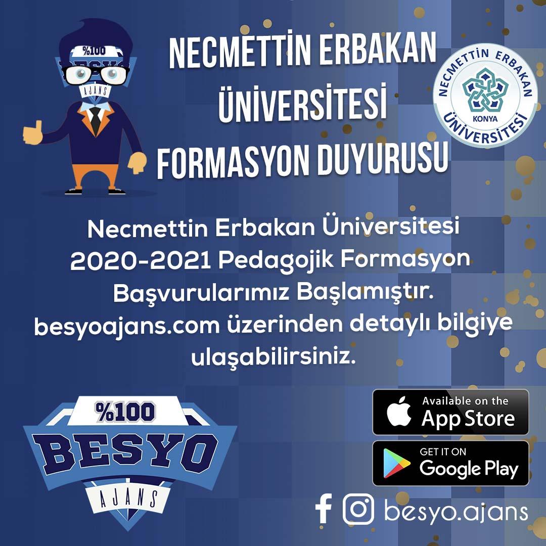 Necmettin Erbakan Üniversitesi Formasyon Başvuruları 2020 – 2021