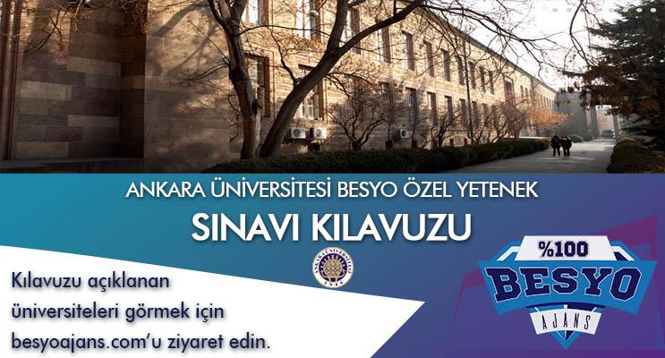 Ankara Üniversitesi Besyo Özel Yetenek Sınavı
